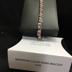 Avon Birthstone Tennis Bracelet June.